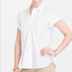 NWT J Crew Short Sleeve Popover Shirt